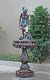 FYMIJJ Estatu aEuropa Jardín esculturas Decorativas Fuente de Bronce Escultura estatuas del Paisaje Decoración Gran Fuente de Agua Interior