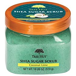 Tree Hut Shea Sugar Body Scrub Coconut Lime 18-Ounce Jars (Pack of 3)
