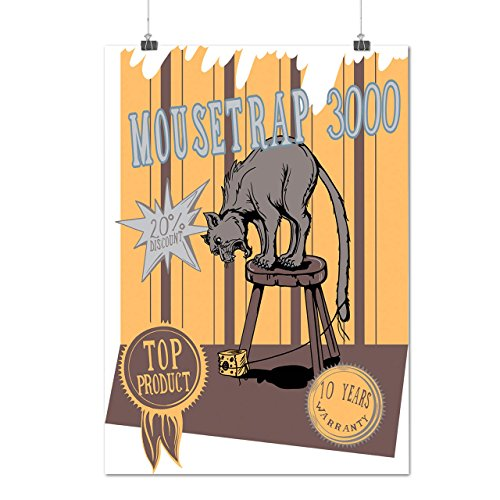 mouse-trap-cat-bait-cheese-lure-matte-glossy-poster-a3-42cm-x-30cm-wellcoda