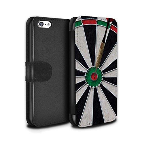 Stuff4 Coque/Etui/Housse Cuir PU Case/Cover pour Apple iPhone 5C / Tops/Double 20 Design / Fléchettes Photo Collection Bull/Bullseye