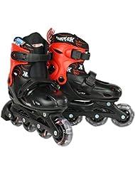 Hot Wheels Big Logo - Patines en línea negro schwarz rot Talla:30-33