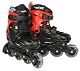 Hot Wheels Kinder Inlineskate Big Logo, schwarz rot, 30-33, 980279/30