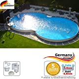 Achtformbecken 4,70 x 3,00 x 1,50 Schwimmbecken 8-Form Achtformpool 4,7 x 3,0 x 1,5 Swimmingpool Stahlwandpool...