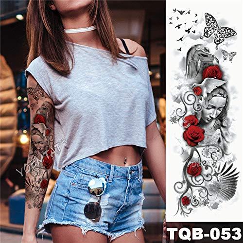 Handaxian 3pcs tatuaggio maori power totem impermeabile tatuaggio adesivo guerriero samurai angelo uomini tutto nero tatuaggio