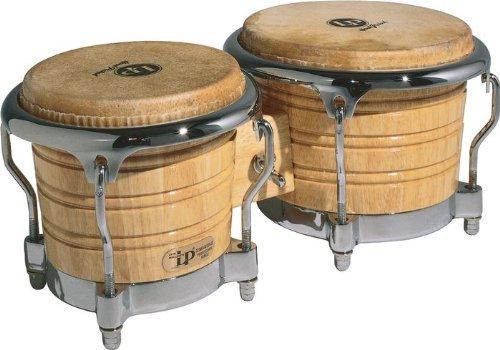 LP Latin Percussion Generation II Wood Bongo Natural Chrome Hardware LP201AX-2 (Lp Bongos Professional)