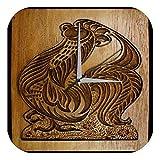 leotie fashion&lifestyle Horloge Murale Cutter Coq Publicité Imprimee Plexiglas