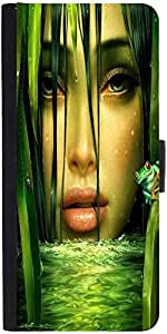 Snoogg Woman In The Jungle 2844 Designer Protective Flip Case Cover For Apple...