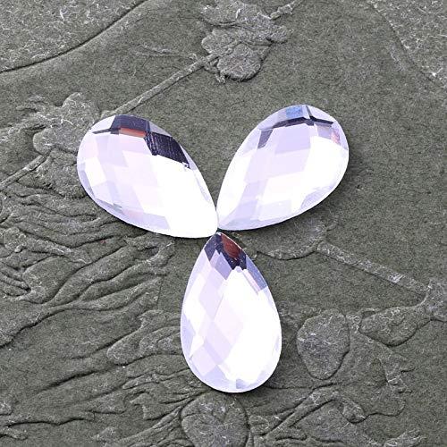 ASTONISH !!! 2018 Super-glänzender weißer Tropfenförmige Flacher Rückseite des Glaskristallrhinestones Gilt für Hochzeitskleid und DIY Schmuck: 7x12mm 50pcs