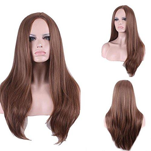 Urparcel Cheveux longue Lisse Perruque Mi-longue synthétique Perruque Naturel Pour Femme Vie quotidienne 342