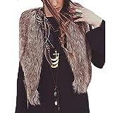 iHENGH Vorweihnachtliche Karnevalsaktion Damen Winter Jacke Dicker Warm Bequem Slim Parka Mantel Lässig Mode Frauen Weste ärmelloser Oberbekleidung Lange Haare Weste