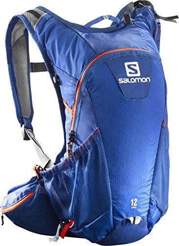Salomon Zaino leggero, Ideale per il running su strada, 12 litri, 45 x 22.5 x 13.5 cm, AGILE 12 SET, Blu, L38234800