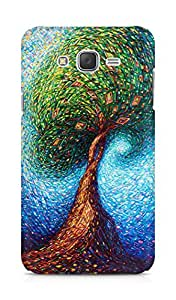 Amez designer printed 3d premium high quality back case cover for Samsung Galaxy J7 (Colorful Tree)