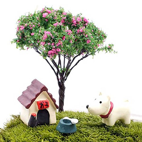 Inovey 3pcs Various Mini Cute Animal Micro Landscape Garden DIY Decor (Spitzen-panel Mini)