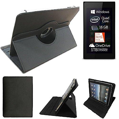 K-S-Trade Allview WI7 Schutz Hülle 360° Tablet Case Schutzhülle Flip Cover für Allview WI7, schwarz. Tablet Hülle drehbar Standfunktion Ultra Slim Bookstyle Tasche Kunstleder Qualitätsware