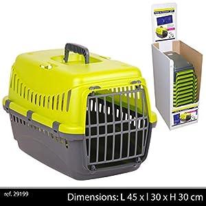 Urban-Living-Pet-Carrier-Seatbelt-Holder-Carry-Handle-Small-Animal-Transporter-Green-Grey-Pink