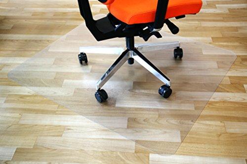Airocell Petex PET Bodenschutzmatte, 120 cm x 150 cm mit abgerundeten Ecken, rutschfest, transparent für Hartböden, Laminat-Parkett-Venyl-Fliesen. Transparent