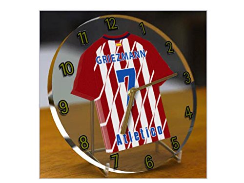 ANTOINE GRIEZMANN 7 - HORLOGE DE TABLE CLUB ATLÉTICO DE MADRID - EDITION LIMITEE LES LEGENDES DU FOOTBALL