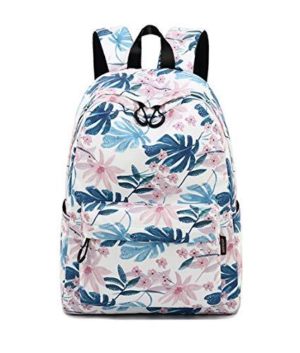 Joymoze Modischer Freizeitrucksack für Mädchen Jugendliche Schulrucksack Frauen Aufdruck Rucksack Geldbeutel (Süße Blume) -
