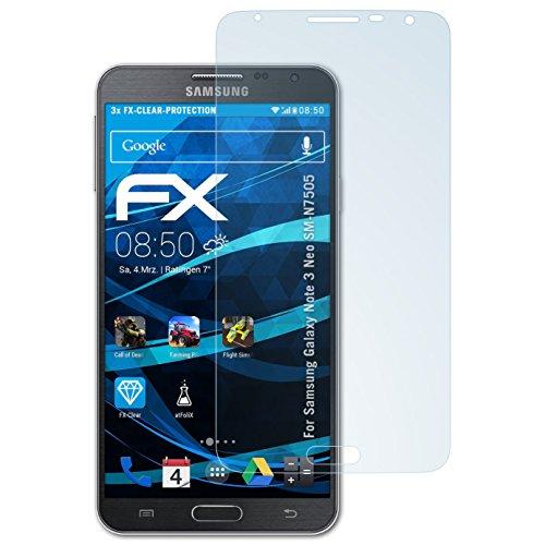 atFolix Schutzfolie kompatibel mit Samsung Galaxy Note 3 Neo SM-N7505 Folie, ultraklare FX Bildschirmschutzfolie (3X)