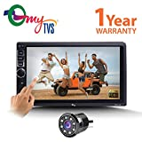 #6: myTVS TAV-40 Car Touch Screen Stereo Player with Bluetooth & Mirror Link + 8 LED Night Vision Parking Camera