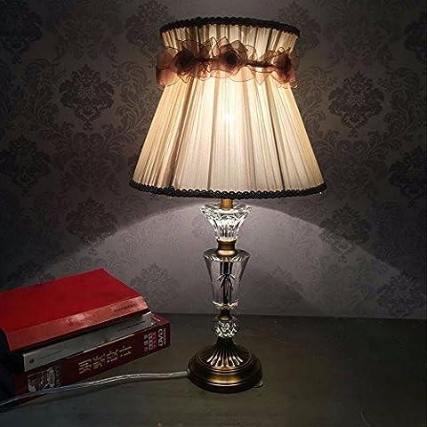 SUNQIAN-Haus Schlafzimmer Tischleuchten, Kristall-Lampen, elegante Hochzeit Nachttisch