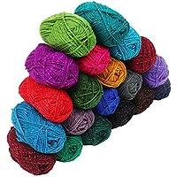 Hilo de lana 20 piezas - Lana de ganchillo 20 g - 75 metros Hilado de ganchillo en color surtido - Hilo de ganchillo Para hilos de ganchillo Para proyectos de punto y apliques - hilo de tejer crochet