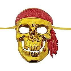 Máscara de pirata calavera, Halloween.
