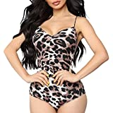 MOIKA Maillot de Bain Une pièce imprimé Sexy léopard pour Femme