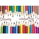 Adesivi da parete cameretta WINOMO Adesivo per bambini con matite colorate...