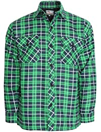 MENS THICK PADDED QUILTED CHECK LUMBERJACK SHIRT WARM WINTER WORK SHIRT HOODED AND NON HOODED IN LISTING M-5XL