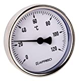 Bimetall-Zeigerthermometer | Für Heizanlagen und Kessel |120 Grad
