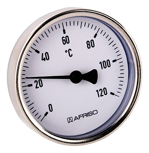 Sanitop-Wingenroth 27147 9 Bimetall-Zeigerthermometer 120 Grad C, -