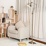 LYM Tageslicht Stehleuchte & Stehlampe, Wohnzimmer Schlafzimmer Studie Sofa Eisen Kunst vertikale Tischlampe E27 60W 220V (Farbe : Foot Switch+Three Color 8W)