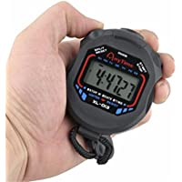 Bluester Waterproof Digital LCD Stopwatch Chronograph Timer Counter Sports Alarm Stopwatches