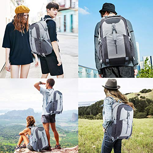 51MRBlrzqNL. SS500  - Casual Backpack, Water Resistant Slim Lightweight Laptop Rucksack For Men/Women, Large Travel/Hiking/Cycling Daypacks With Earphone Hole, College/High School Bags For Boys/Girls -32L, Grey