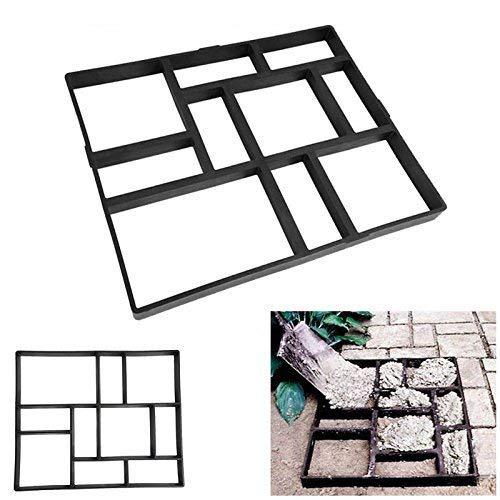 gototop stampo cemento stampi pavimento,stampo per pavimentazione,marciapiede forma,giardino fai da te percorso modello pavimentazione,diy path stampo vialetto giardino(60x50x5cm)