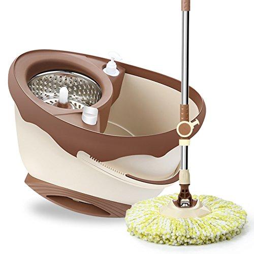 Ménage rotatif de vadrouille aucun besoin de lavage de main Seau de vadrouille humide et sec de double commande automatique