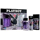Playboy New York Herren Geschenk Set EDT + Deo + Duschgel Geschenkset Parfüm