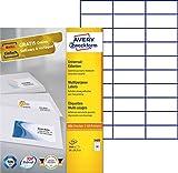 Avery Zweckform 3489 Universal-Etiketten (A4, Papier matt, 3,000 Etiketten, 70 x 29,7 mm) 100 Blatt weiß