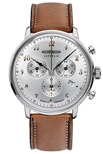 Zeppelin Mens Watch Chronograph LZ129 Hindenburg Ed. 1 7088-5