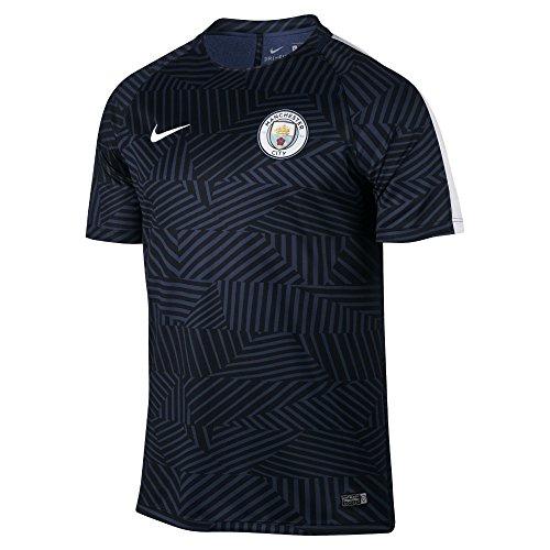 Nike MCFC M NK DRY TOP SS SQD GX - Maglietta, Blu, L, Uomo