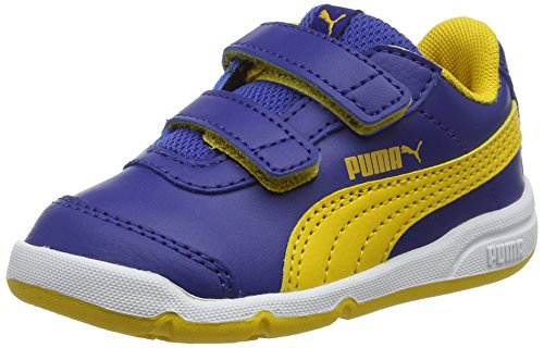 Puma stepfleex 2 sl v inf, scarpe da fitness unisex – bambini, blu (sodalite blue-spectra yellow 12), 26 eu