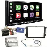 Pioneer AVH-Z9100DAB CarPlay Android Auto Digitalradio USB CD DVD Autoradio Touchscreen Moniceiver Navi Einbauset für Golf 5 6 Passat 3C B7 Touran