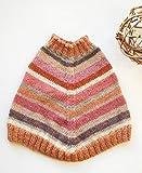 Poncho neonata lana di alpaca a righe tintura naturale