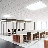 Aigostar 175405 - LED E5 40W, panel light encastrable de techo cuadrado, luz calida 6000K, longitud 595 mm
