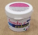 Decoration S.r.l. Boden und Colora–Farbe Geeignet für Alle Oberflächen colorando Direkt Alle Flächen.–Farbe Wasser Marina–500ml–Verpackung für 3,5qm in 2Hände.