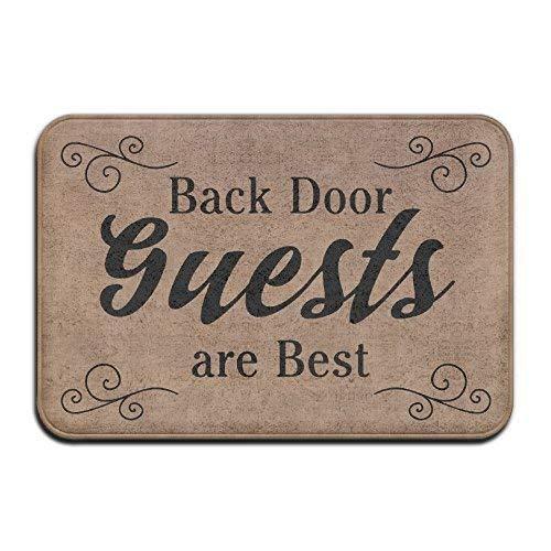 Back Door Guests Are Best Vintage 15.7 X 23.6 In Absorbent Anti Slip Floor Rug Carpet Door Mat Funny Felpudo Funny Door Mat Funny Felpudo Quote Felpudo Unique Felpudo Funny Mat
