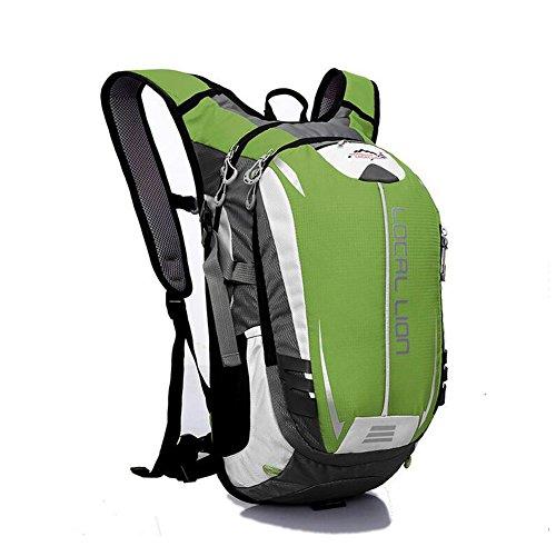 SYSI Damen und Herren 18L Sport Rucksack Wasserdicht Fahrradrucksack Leicht Trinkrucksack Reisetasche Daypack Gruen