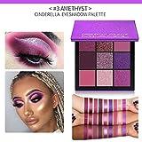 Shenye Pearl Glitter Lidschatten Pulver Palette Matt Lidschatten Kosmetik Make-Up 9 Farbe (Lila)