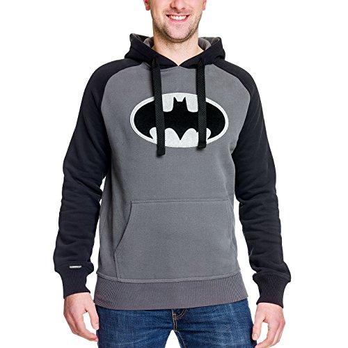 batman-herren-hoodie-black-logo-kapuzen-pullover-dc-comics-elbenwald-grau-schwarz-m